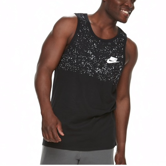 NWT NIKE Men/'s LOGO Tank Top WHITE BLACK XXL